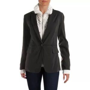 AQUA BLACK BLAZER JACKET DETACHABLE KNIT SWEATER